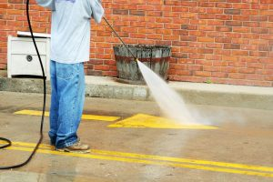 Brick Surface Cleaning