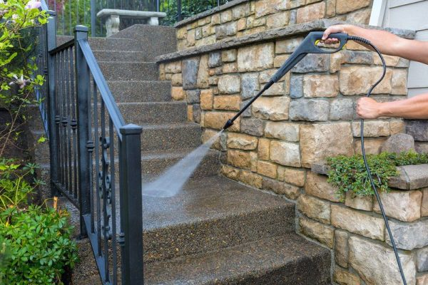 pressure washing concrete