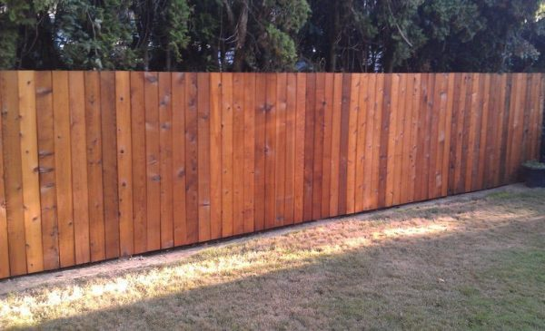 cleaned wood fence