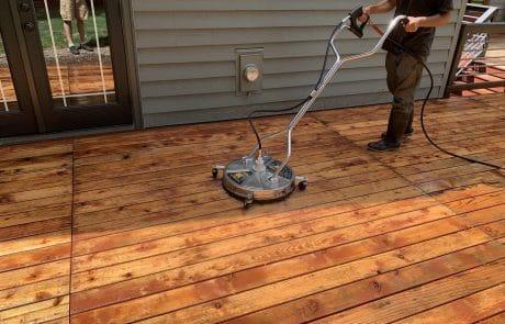 deck cleaning machine