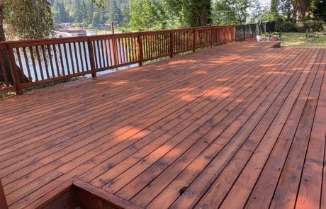 cleaned deck