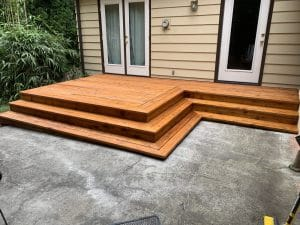 clean deck and patio