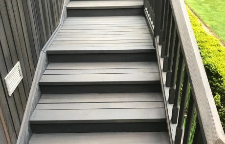 cleaned deck stairs
