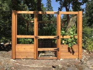 wood garden fence